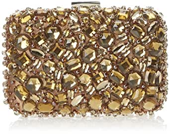 La Regale Rl29070 Clutch,Black/Taupe,One Size