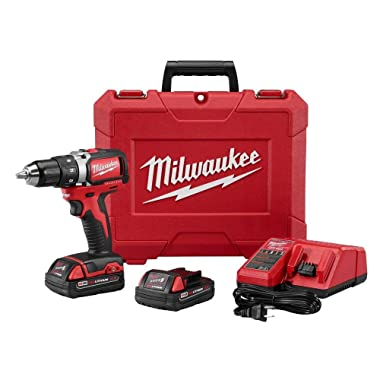 Milwaukee 2701-21P M18 18-Volt Cordless 1/2  Compact Brushless Drill/Driver Kit