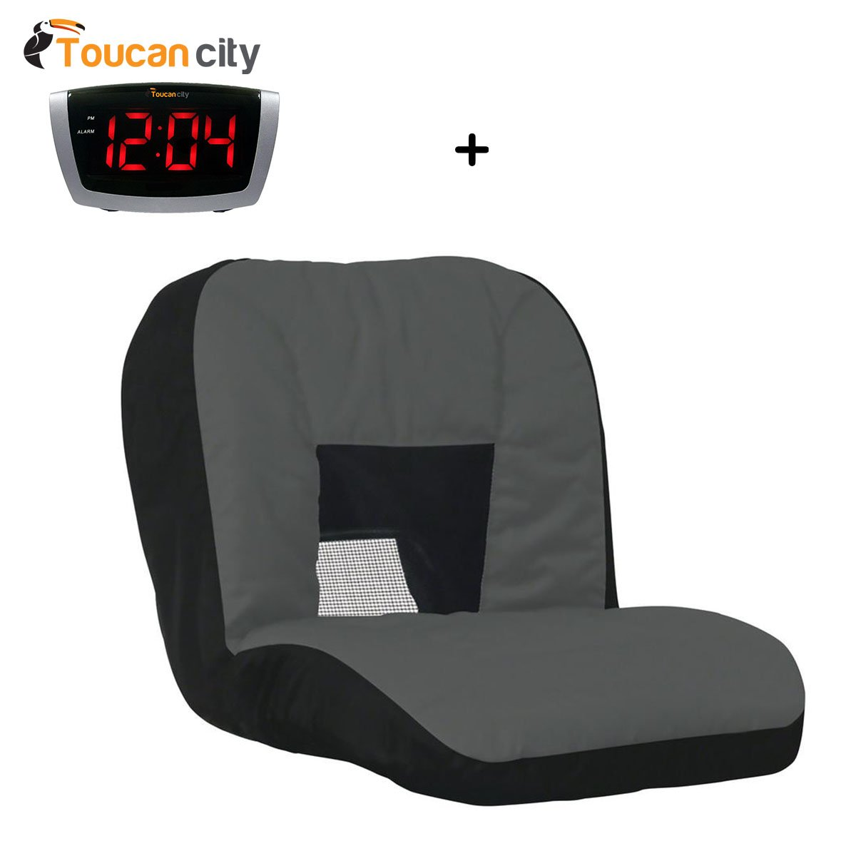 Toucan City LED Alarm clock and Cub Cadet Lawn Tractor Seat Cover with Mesh 49253