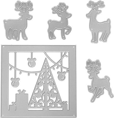 Christmas tree Deer Rabbit Metal Cutting Dies DIY Album Craft Stencil Embossing
