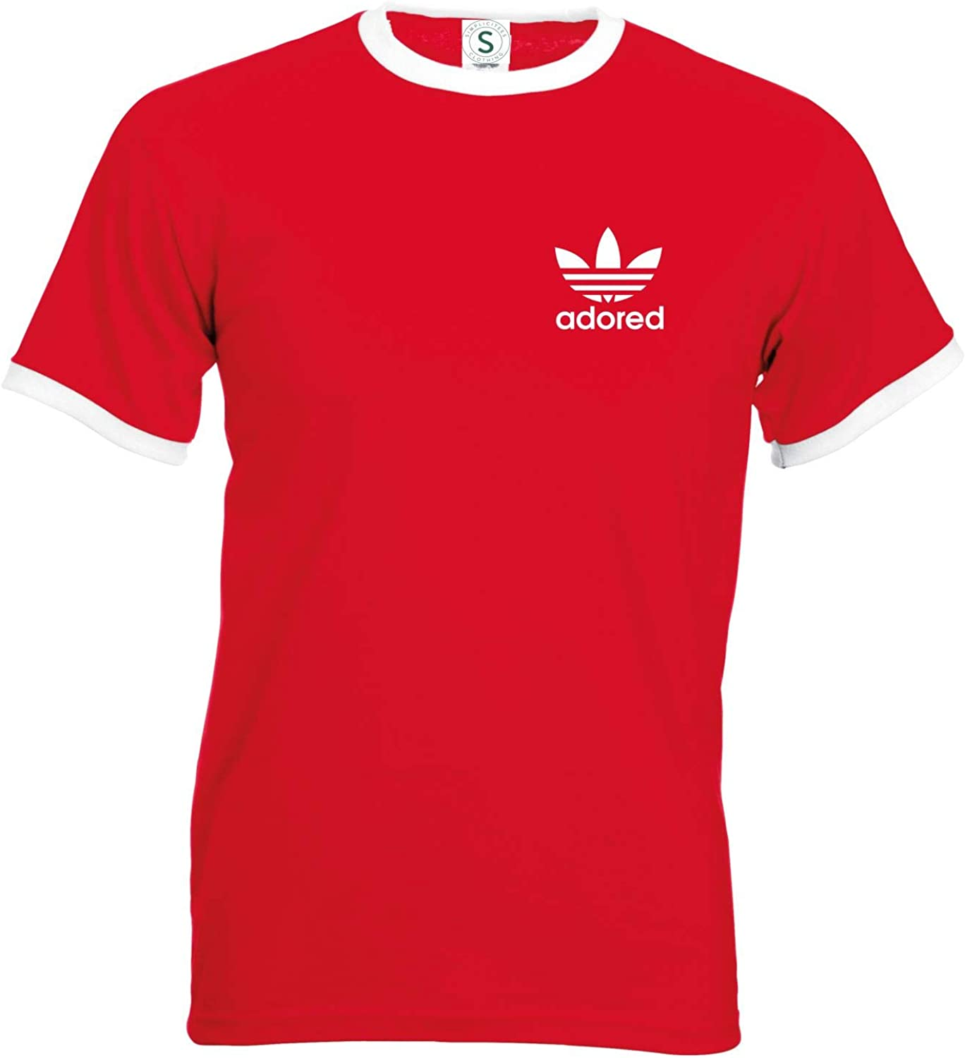 Fruit of the Loom Simplicitees Stone Roses Ian Brown Wanna Be Adored Tribute T-Shirt Spike Island Ringer