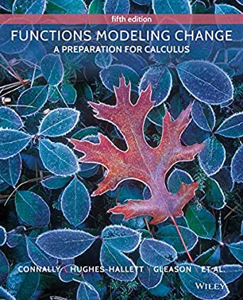 functions modeling change a preparation for calculus 5th edition 5