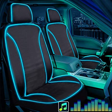 Big Ant Seat Covers with LED Light, Piping Lights Up with Music Seat Cover  Waterproof Car Seat Cover with USB Connection, Fit Most Car, Truck, SUV, or