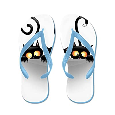 Lplpol Naughty Playful Kitties Flip Flops for Kids and Adult Unisex Beach Sandals Pool Shoes Party Slippers