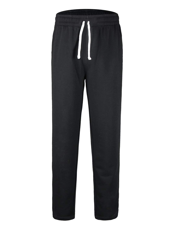 Baleaf Youth Boys' Athletic Pants Tapered Leg Running Sweatpants Black Size XS