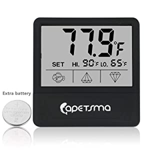 Capetsma Digital Touch Screen Fish Tank Thermometer