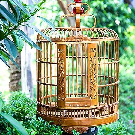 WTTTTW Jaula de pájaros Tallada, Escultura Tordo Jaula de pájaros ...