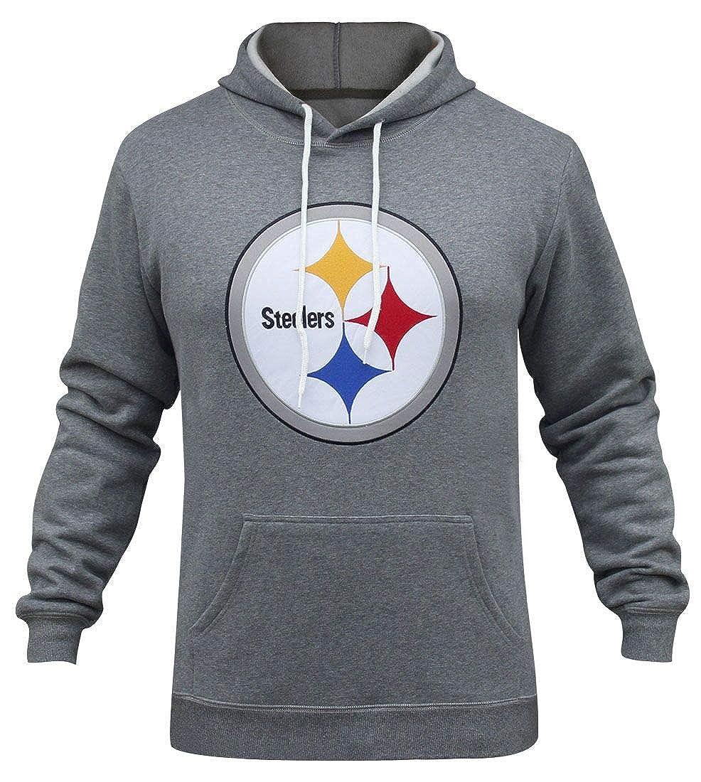 online store 7e5f7 9443d Winzonup Mens Sporty Football Steelers Sweatshirt Casual Pullover Hoodie