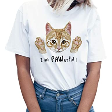 Tosonse Camiseta para Mujer Tops Blusa Tanques con Estampado ...