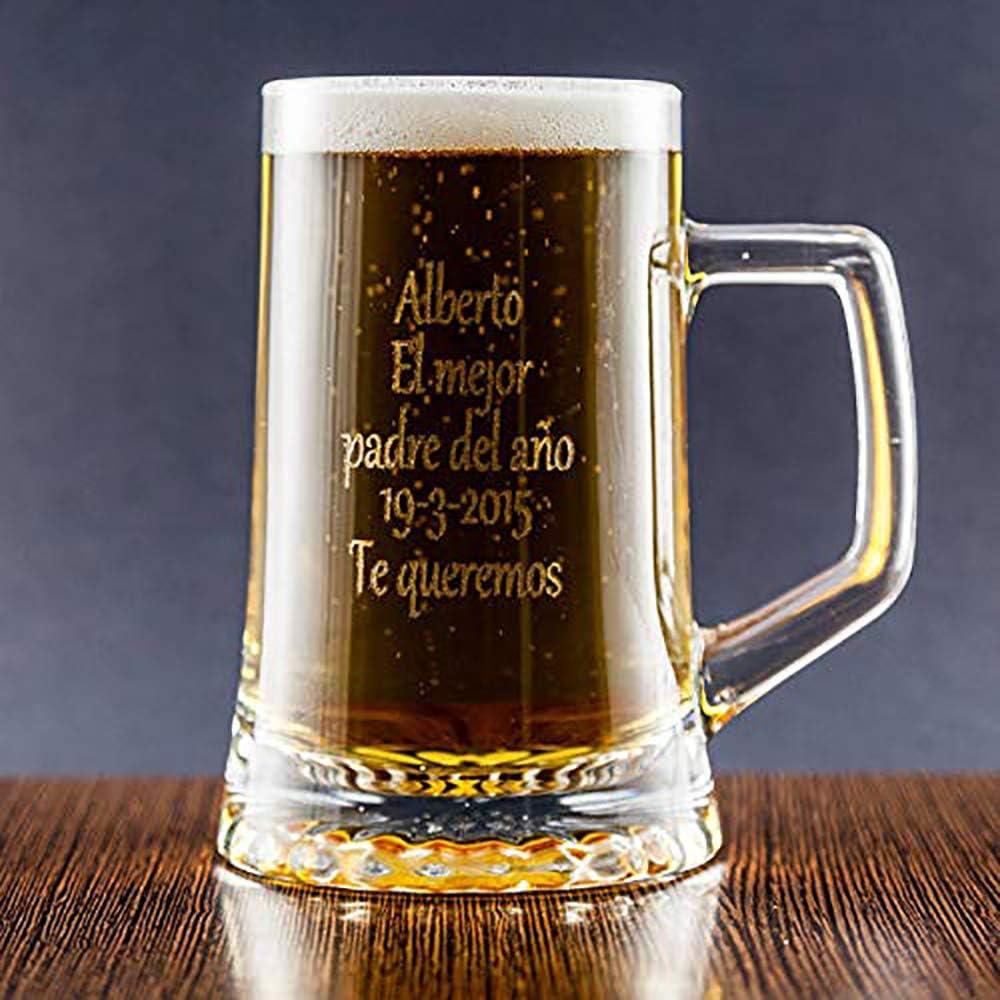 Jarra grabada con Texto Calledelregalo Regalo Personalizado Jarra de Cerveza Personalizada en Estuche