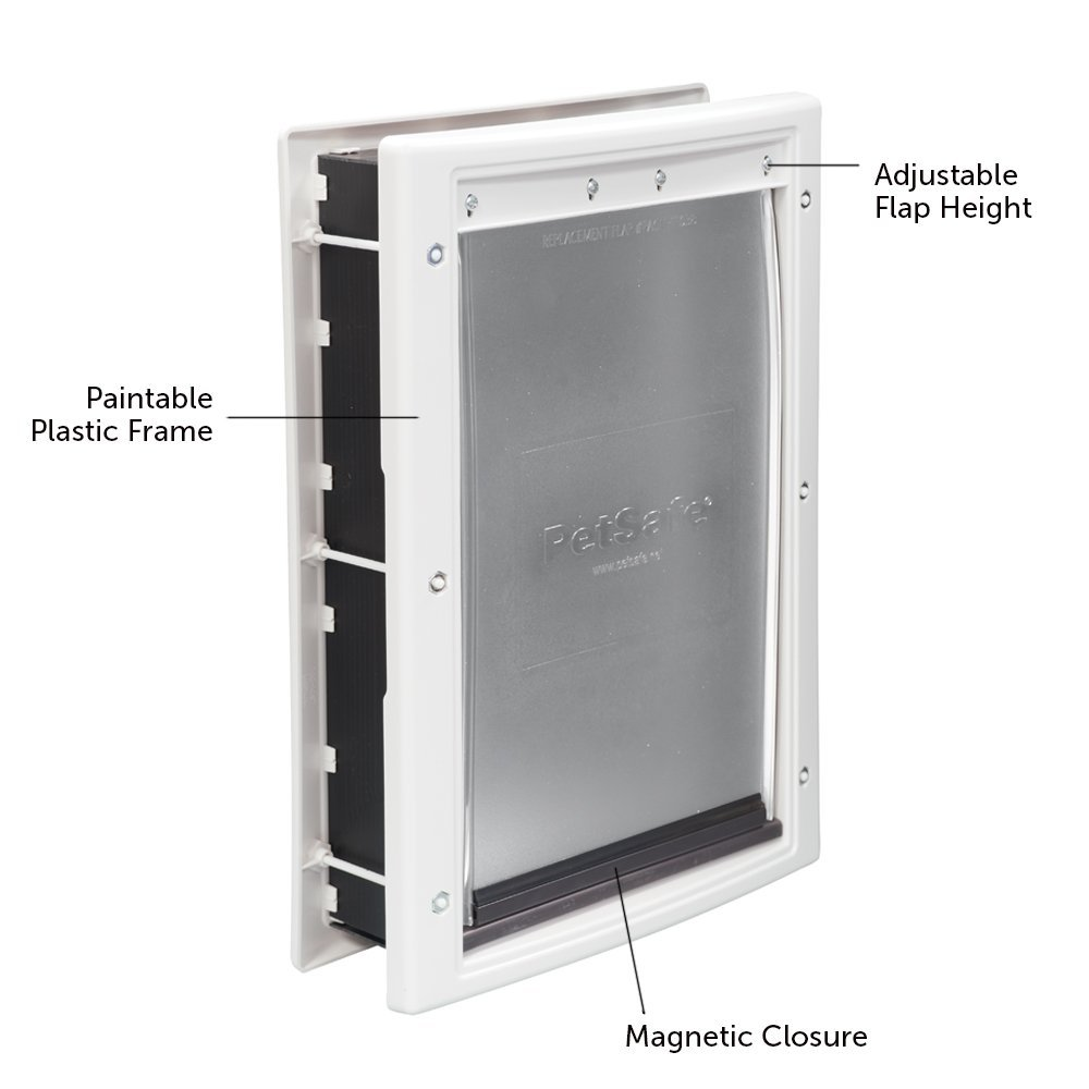 Amazon.com: PetSafe Plastic Pet Door Medium, with Soft Tinted Flap ...