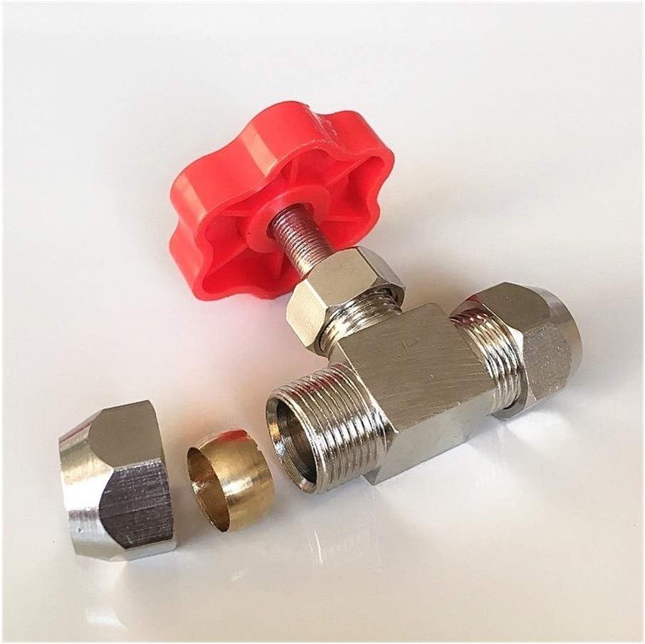 YINGJUN Valves 1 Piece 6mm 8mm 10mm 12mm High Pressure Durable Tube Needle Type Globe Valves Color : 12mm