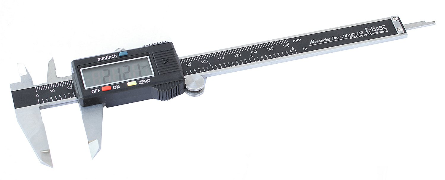 Venzo Electronic Bike Bicycle Digital Caliper Hardened Stainless Steel 6in/150mm