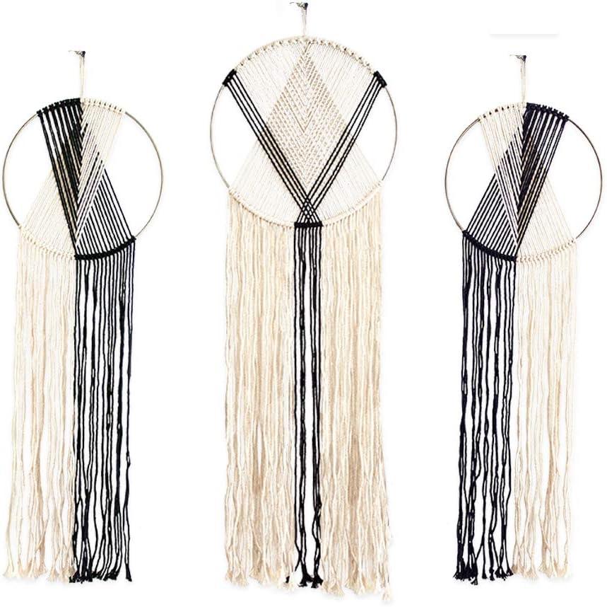 Macrame Boho Wall Hanging Tapestry Woven Rope Dream Catcher Home Bohemian Decor