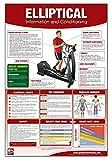 Elliptical Machine Chart/Poster: Elliptical Machine, Cardio workout, Fitness Equipment poster, Cardio poster, Exercise Machine poster, Exercise ... Elliptical Training, Elliptical Trainer