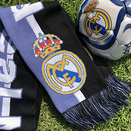 (Real Madrid Ball Scarf Official Licensed Soccer Fan Gift Bundle)