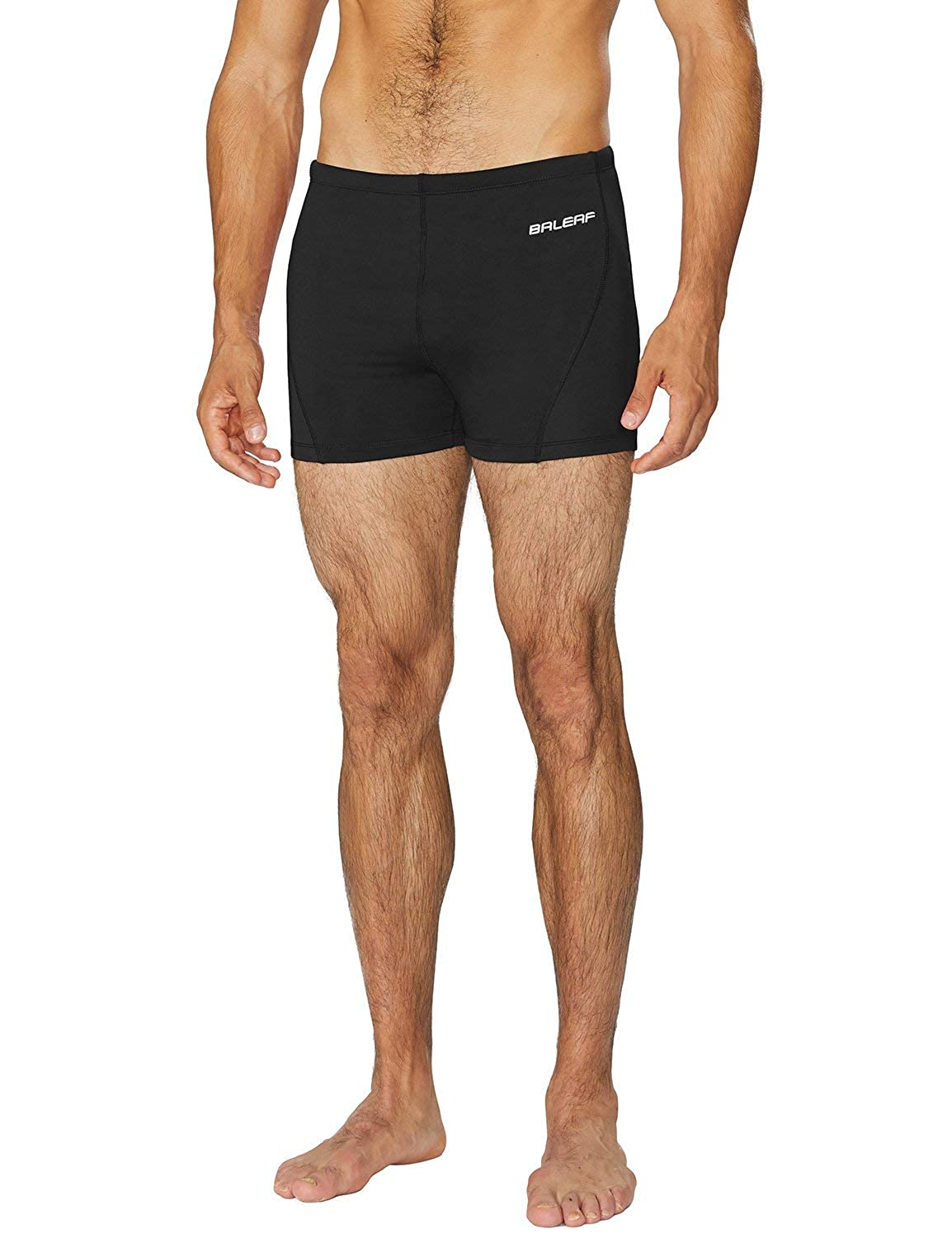 BALEAF Mens Athletic Durable Training Polyester Quick Dry Compression Square Leg Jammers Swim Brief Swimsuit