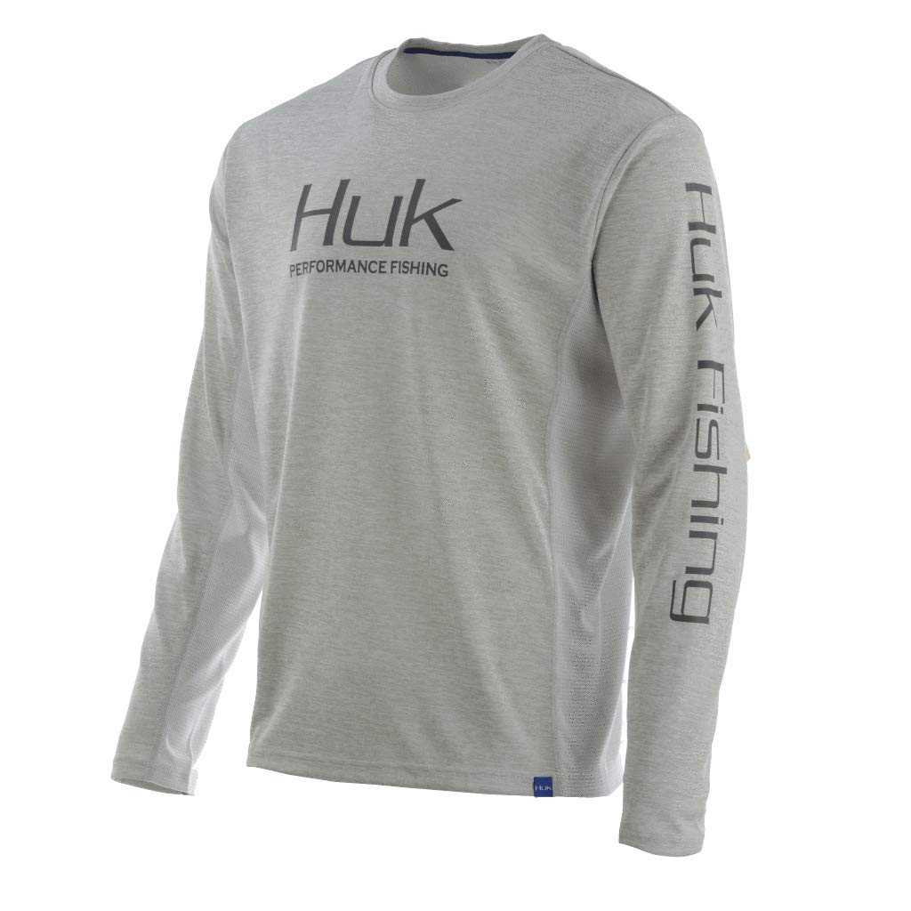 Huk Men's CW Icon LS Shirt & Cooling Towel Bundle