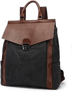 Travel Laptop Backpack Vintage Men//Women Backpack Daypack Waterproof Zipper Canvas School Bag Shopping Waterproof Computer Backpack Color : Dark Grey