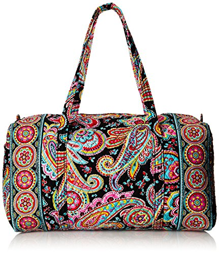 Vera Bradley Large Duffel Floral Fiesta With Black Interior | 11street Malaysia - Tote Bags