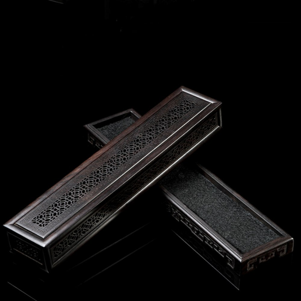 Rosewood Ebony Wood Incense Burner Holder Coffin Incense Burner Box Incense Stick Holder by Spie (Image #5)