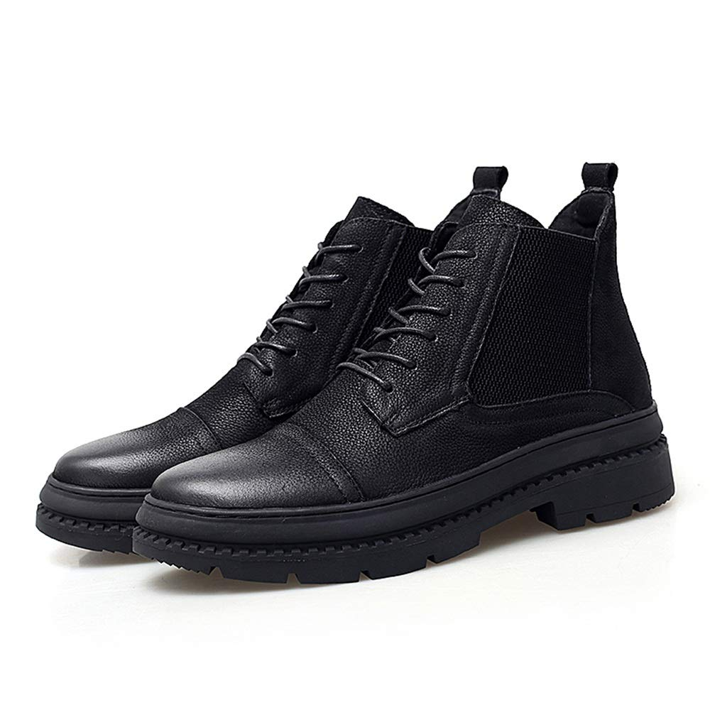 Dundun-Stiefel 2018 Neue Kommende Kommende Kommende Stiefel, Männer Casual Mode Stiefel Kuhfell High-Top Outdoor-Laufsohle Stiefel (Farbe   Schwarz, Größe   38 EU) d03949