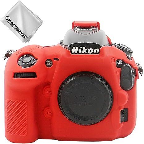 Rojo Cuerpo Completo Caucho de TPU Funda Estuche Silicona con Textura Fina para cámara para Nikon D810 XJPJ-Nikon D810-GJ-T08G1: Amazon.es: Electrónica