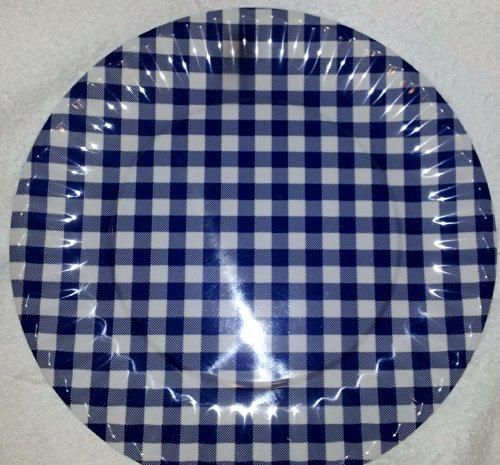 Nantucket Brand 10.5 Inch Blue Gingham Reusable Melamine ...