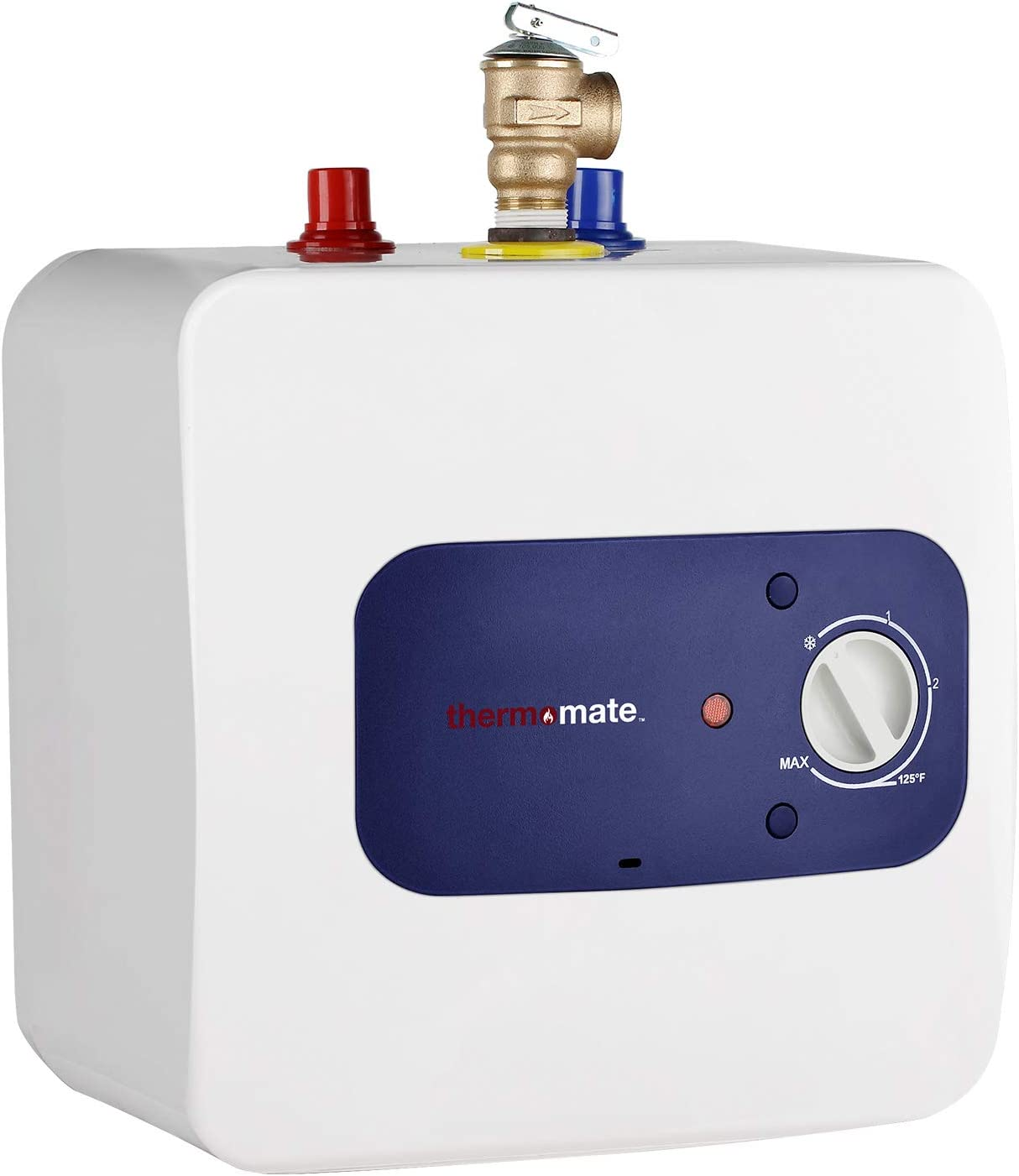 thermomate Mini Tank Electric Water Heater ES250 2.5 Gallons Point of Use No Wait for Hot Water Under Kitchen Sink 120V 1440W, Wall or Floor Mounted