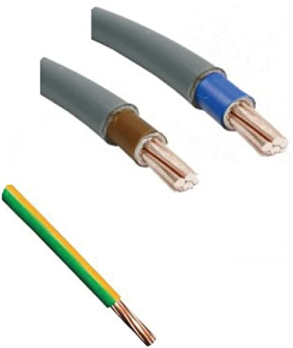 2.5mm green and yellow earth cable per meter Earth Bonding Cable Basec Approved