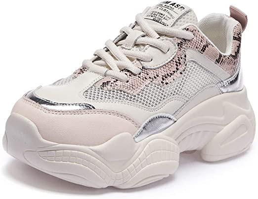 Willsky Zapatillas de Running para Mujer, Zapatillas Deportivas Zapatillas de Deporte Ligeras para Caminar Chunky Absorción de Choque Malla Jogging Informal,Pink,39: Amazon.es: Hogar