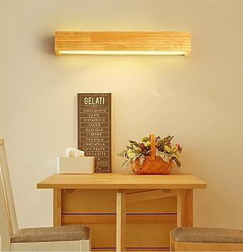HBVAN LED Aplique Pared Interior Lámpara de Pared LED Bañadores de pared Madera Luces de pared para sala de estar Dormitorio Escalera Pasillo (55cm): Amazon.es: Iluminación