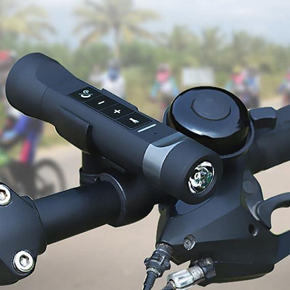 Linterna De La Bici Con El Altavoz De Bluetooth - Al Aire Libre 4 Funciones (Altavoz Sin Hilos, Linterna Del Led, Jugador Mp3, SoS) Luz De La Bicicleta Con ...