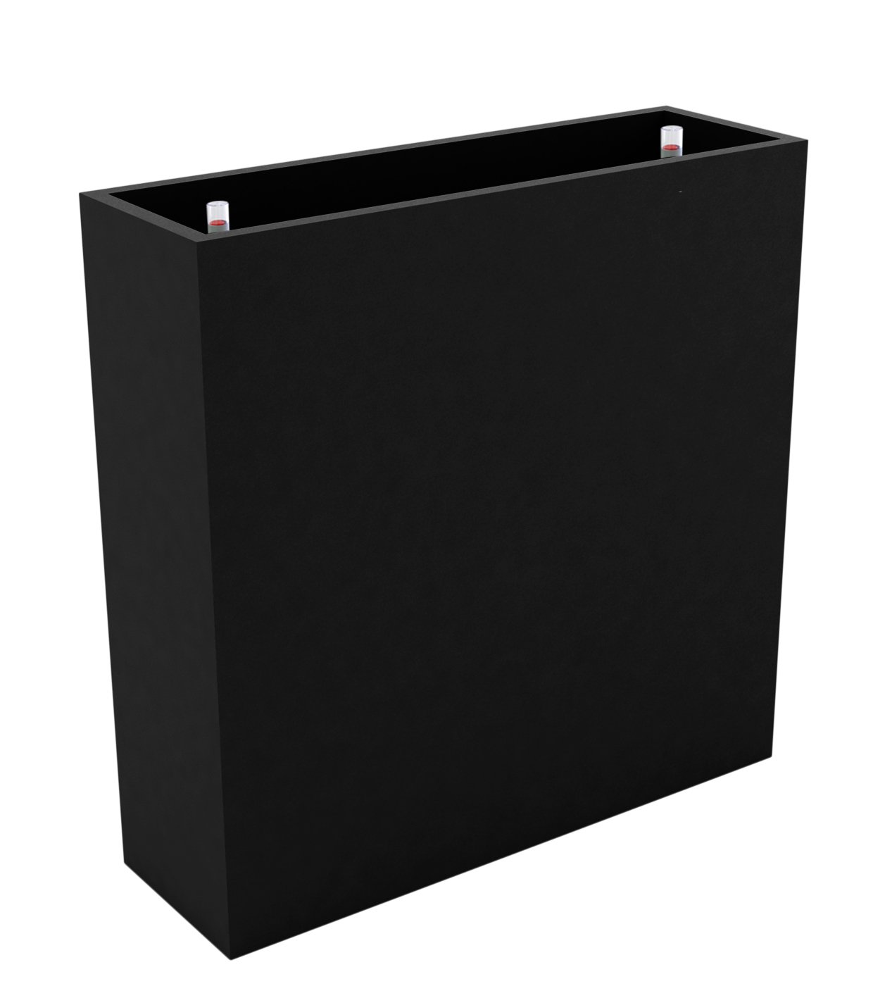 VONDOM Self Watering Wall Planter, 11-3/4 by 47-1/4 by 31-1/2-Inch, Black