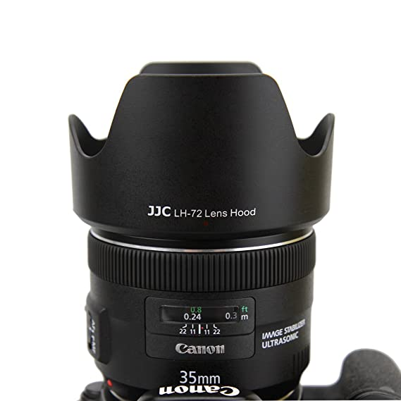 JJC Replacement Canon EW-72 Lens Hood for Canon EF 35mm f//2 IS USM Lens