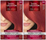 Vidal Sassoon London Luxe Hair Color, Runway Red (6RR), 2 pack