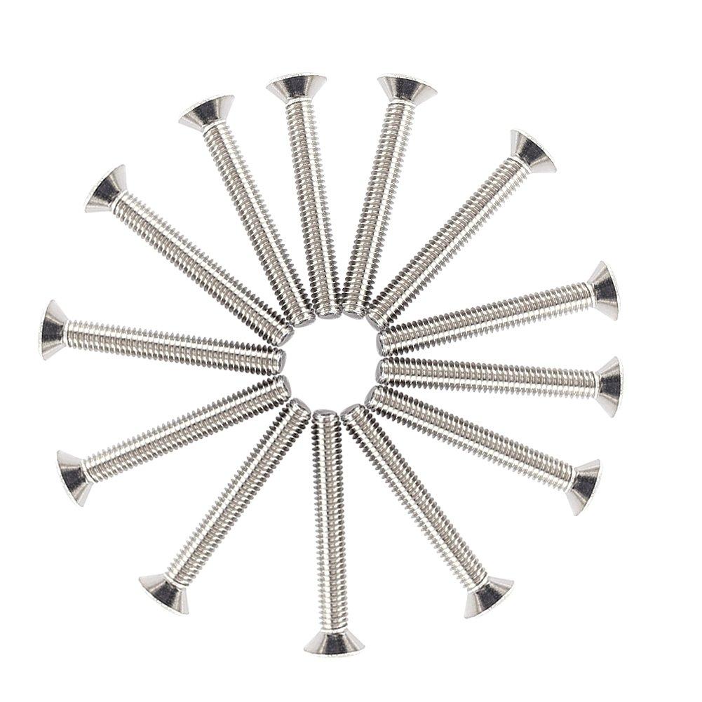 T/ête Bomb/ée M2.5 Kit de 300pcs Assortiment Vis Boulon Douille Hexagonale T/ête Frais/ée Plate//Bomb/ée//Cylindrique en Acier Inoxydable A2 avec Ecrous M2.5 x 4//5//6//8//10//12//16//20mm