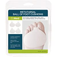 DJMed Metatarsal Gel Pads, Ball of Foot Cushion - High Heels Pads Cushions - 2 Pairs, Set of 4 Pieces