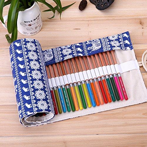 Ciaoed Federmäppchen Federtasche Mäppchen Schlamperrolle Filz Bleistift Beutel Für 36 Buntstifte Bleistifte sind nicht enthalten D