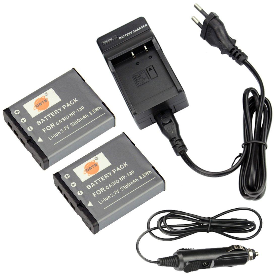 ex-zr800 ex-zr710 Batería np-130 CARGADOR para Casio Exilim ex-zr700