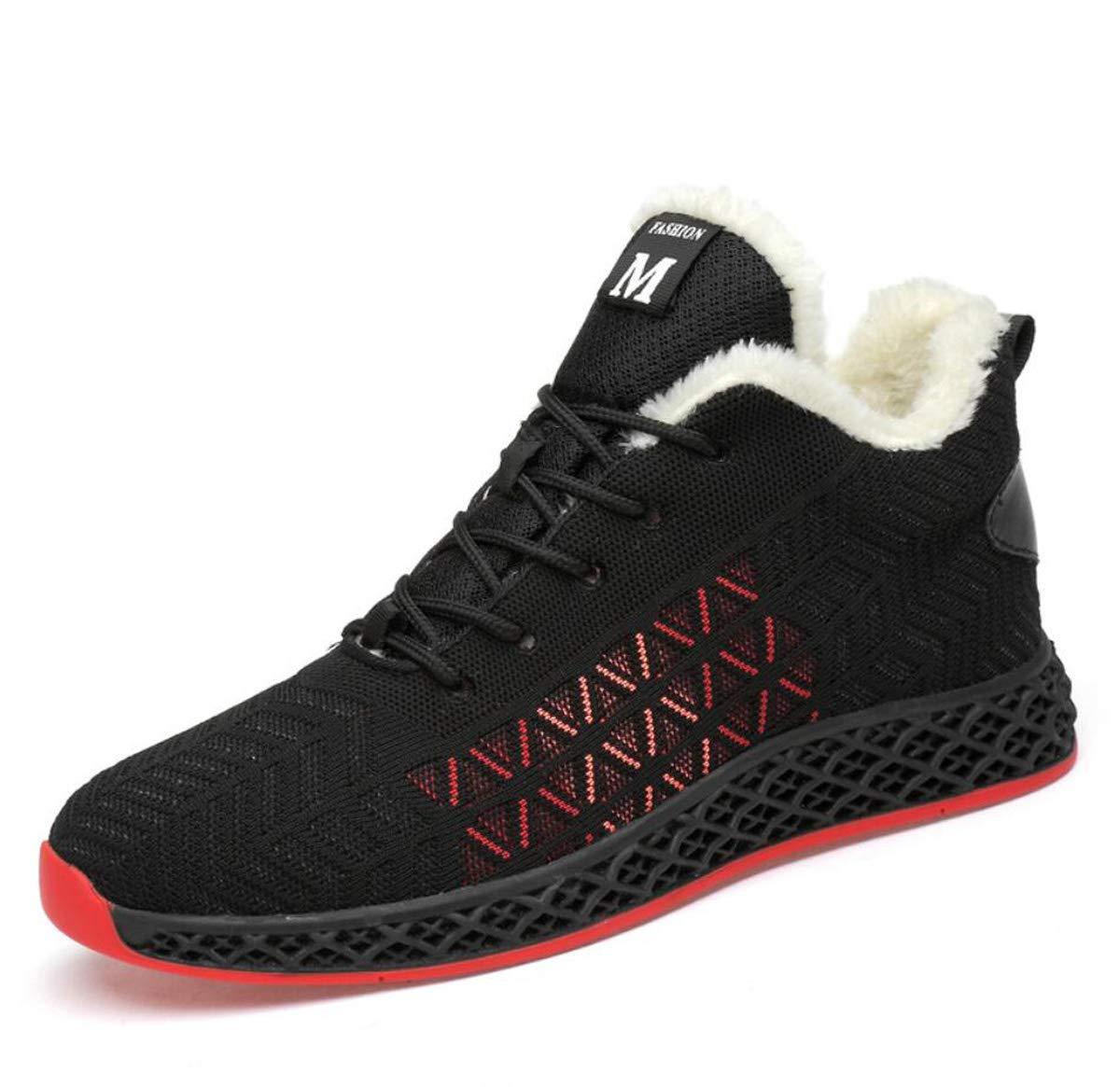 B DANDANJIE Chaussures de Course d'hiver Hommes Occasionnels Chaussures de Sport de Mode Chaudes Chaussures de Marche baskets 41EU