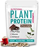 Chocolate Vegan Protein Powder. 1kg. With Organic Plant Protein. High in Iron, Zinc & Magnesium. Gluten Free. Dairy Free.