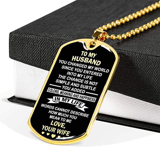 com thisyear to my husband love your wife dog tag gold