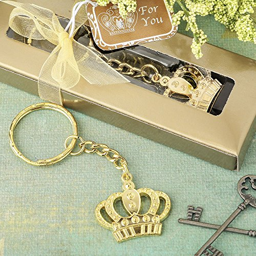 84 Gold Metal Crown Design Key Chains by Fashioncraft