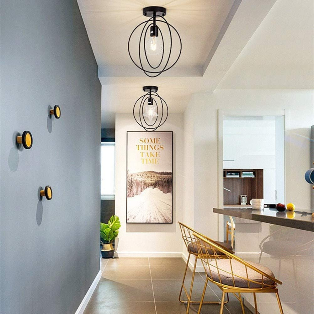 WESDOO Lustres Lampe Industrielle Plafonnier Plafond Lumi/ères pour Couloir Industrielle Lustre Pendentif Luminaires pour Plafonds Golden,Star