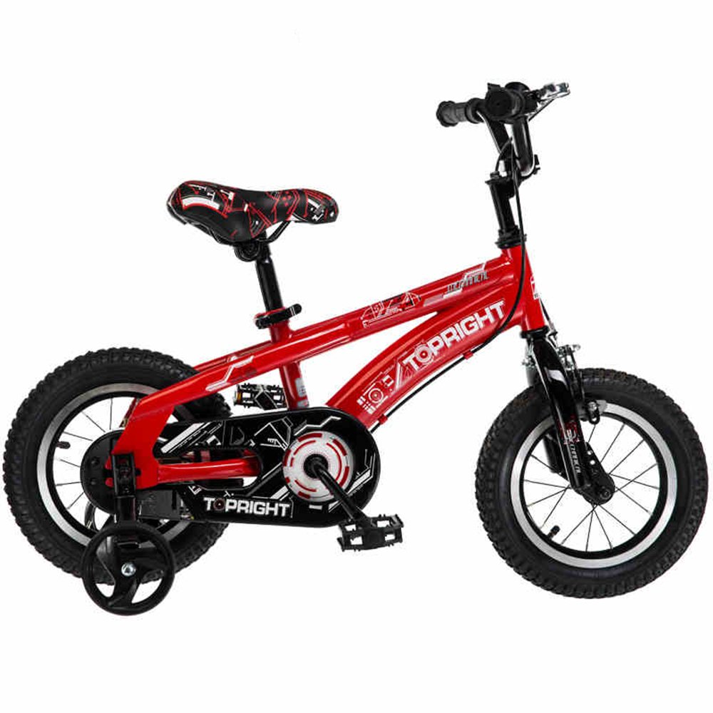 YANGFEI 子ども用自転車 2-9歳の子供のためのサイドストランドとアクセサリーと安全スポーツ子供バイク自転車|女の子/男の子用12インチ、14インチ、18インチ| 212歳 B07DWPJWH2 18 inch|赤 赤 18 inch