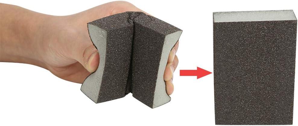 waschbar 12 St/ück Schleifbl/öcke und wiederverwendbares Set : 4 Spezifikationen Sortiment grob mittelfein superfein Sand Schwamm Bestechno Schleifschwamm