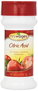 Mrs. Wages Citric Acid, 5-Ounce Container (Pack of 6)
