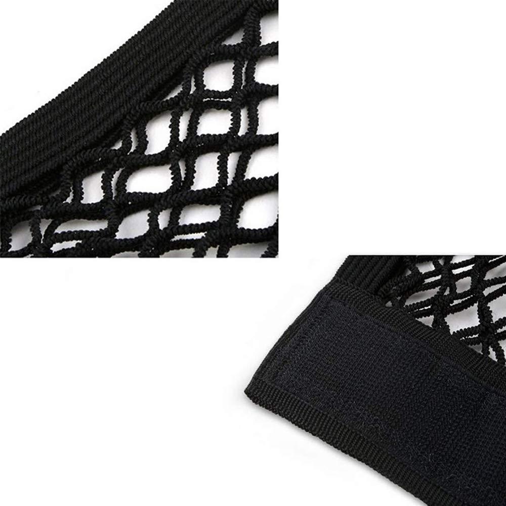2 Piezas Bolsa de Almacenamiento de Velcro para Maletero de Coche Negro Doble Malla El/ástica 40 * 25cm Ritte Red Organizador Coche