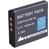 NP-50 & NP-50A BPS Camera Battery for Fujifilm X10/ X20, Finepix F50fd/ F60fd F100fd/ F70EXR/ F72EXR/ F75EXR/ F80EXR/ F85EXR/ F100EXR/ F200EXR/ F300EXR/ F305EXR/ F500EXR/ F505EXR/ F550EXR Digital Camera